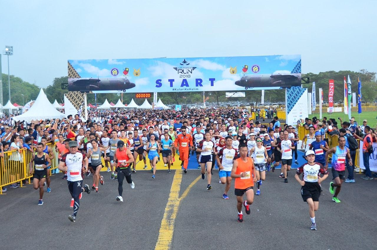 """4000 Runners Meriahkan  Airforce Run '18, """"Airforce Run 2018, Kulari Ke Halim"""""""